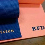 Personalized Yoga Mats - An Embroidered Yoga Mat - A Great Yoga Gift Idea.