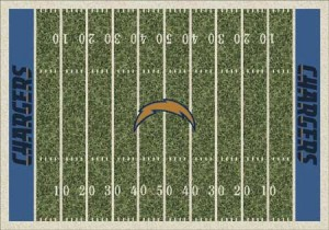 NFL Area Rugs - Chargers area rug