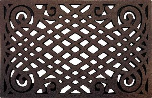 Cleanscrape home door mats - Celtic Lattice in Coffee