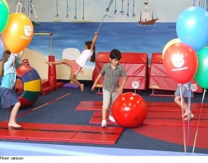 Tumbling Mats, Exercise Balls, Climbing Ropes, And More In Kids Gyms!