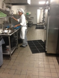 Non-Slip Drainage Mats Are Necessary In All Kitchen Dishwashing Areas!