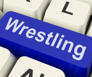 Wrestling Mats Or Computer Key When Wresting With Your Work!