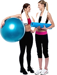 Exercise Ball Adds To Any Workout!